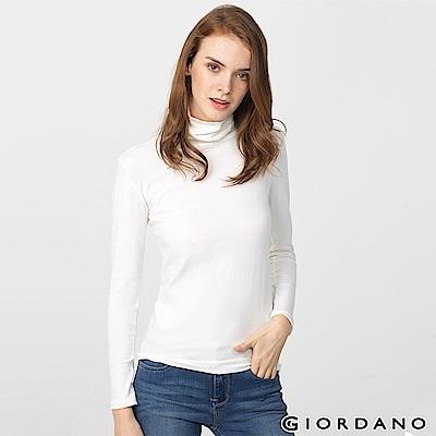 GIORDANO 女裝G-Warmer彈力舒適高領極暖衣 - 04 皎雪