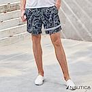 Nautica航海風圖騰海灘褲-藍