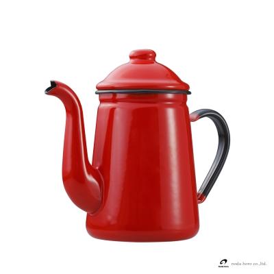 野田琺瑯 咖啡壺 - 紅