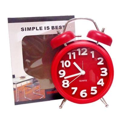 簡約造型圓鐘(熱血紅)