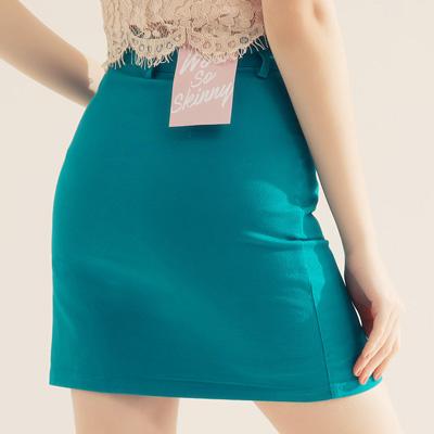 AIR SPACE 舒適彈力包臀褲裙(藍)!