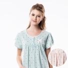 羅絲美睡衣 - QQ小白兔短袖洋裝睡衣(俏皮粉)