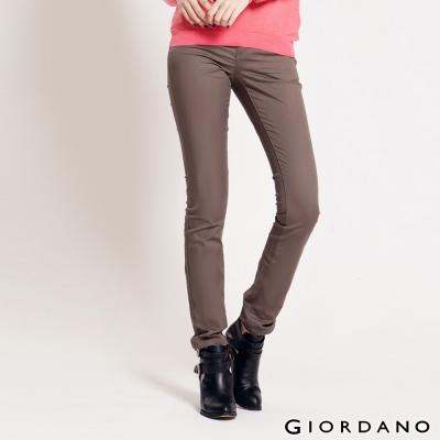 GIORDANO女裝中腰標準窄管休閒褲-18核桃