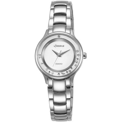 LICORNE 永恆時光真鑽系列 天使光環璀璨手錶-白x銀/30mm