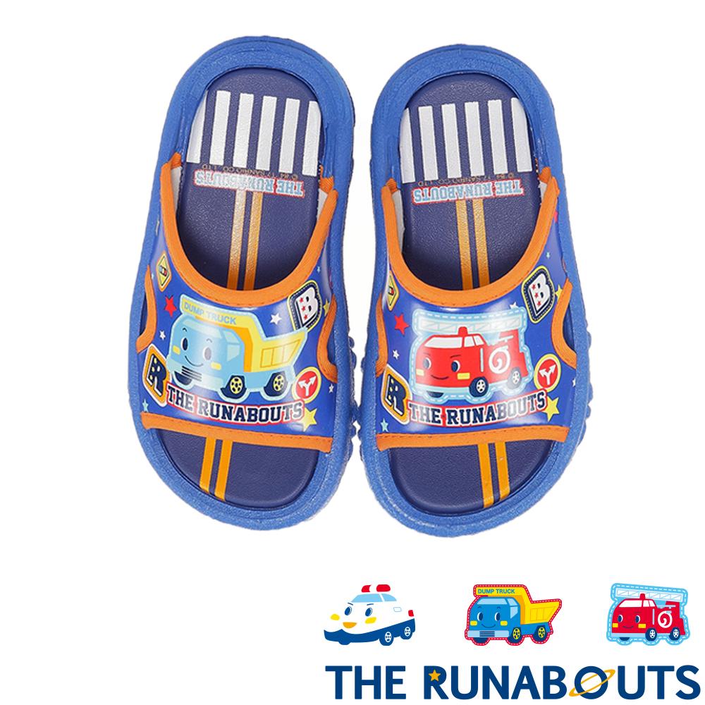三麗鷗 THE RUNABOUTS 輕量減壓休閒拖鞋童鞋 藍