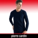 Pierre Cardin皮爾卡登 舒適保暖彈力棉圓領長袖衫