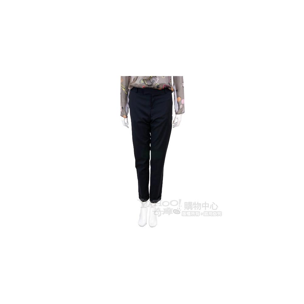 PAOLA FRANI 深藍色反褶造型素雅長褲