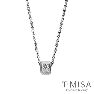 TiMISA 愛的印記(S)純鈦項鍊(SSB)