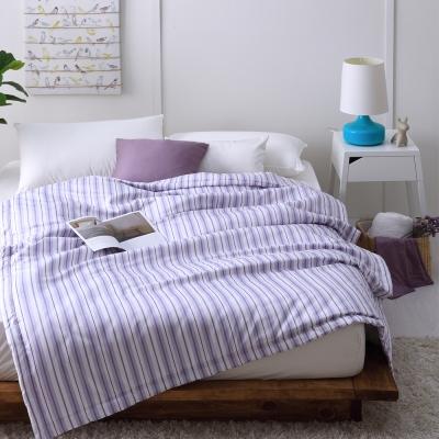 Cozy inn 生活-藍-300織精梳棉-涼被(6X7尺)