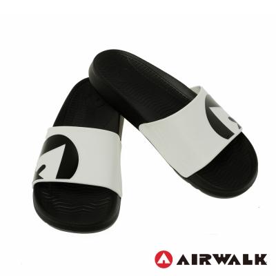美國AIRWALK 防滑耐磨室內外拖鞋-白