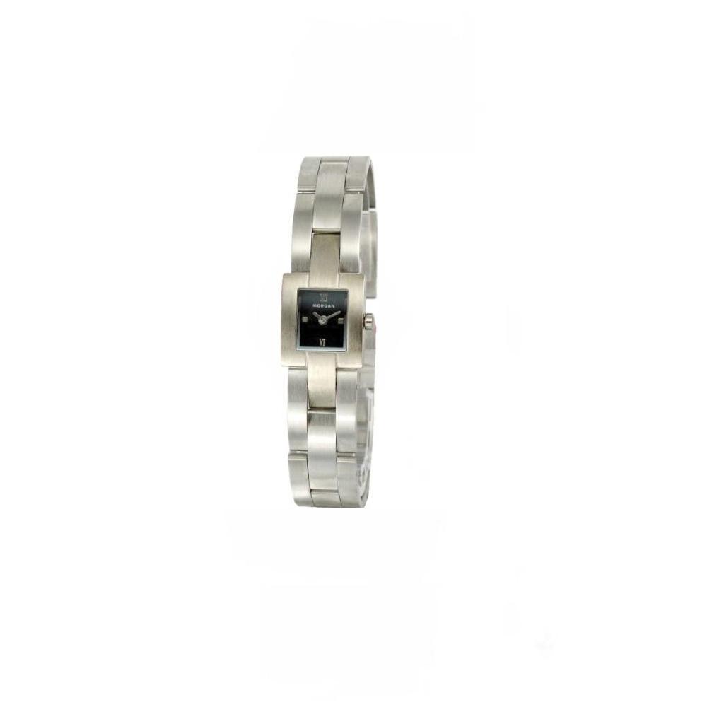 MORGAN 自信俐落個性時尚腕錶-黑/16mm