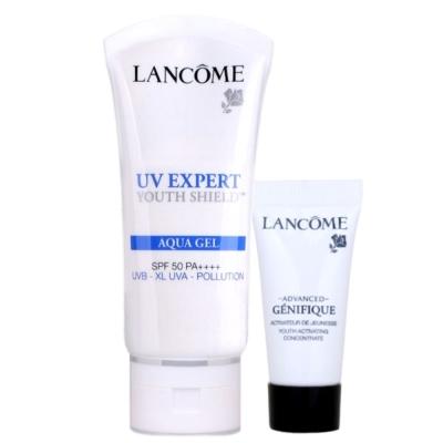 LANCOME蘭蔻 超輕盈UV水凝露SPF50PA++++30ML+肌因5ML