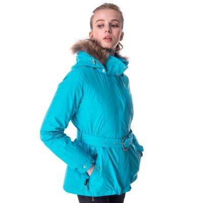 【hilltop山頂鳥】女款GoreTex兩件式防水羽絨短大衣F22FU8水藍