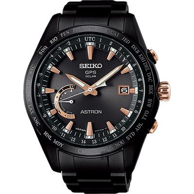 SEIKO精工 ASTRON GPS 鈦衛星定位太陽能腕錶(SSE113J1)-45mm