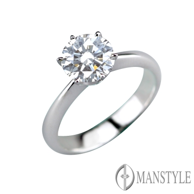 MANSTYLE 經典 2.00ct 八心八箭 鑽石戒指
