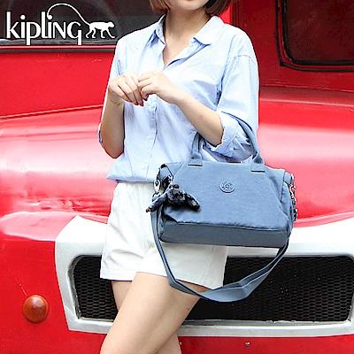 Kipling 手提包 紫羅蘭灰素面-大