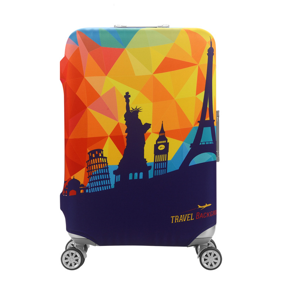 DF 生活趣館 - 行李箱保護套防塵套圖案款L尺寸適用26-28吋-共2色