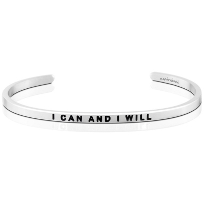 MANTRABAND I Can and I Will 銀色手環 我相信我可以 我相信我會