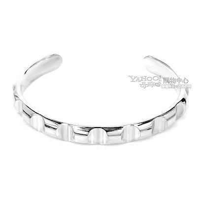 Tiffany&Co. 律動波紋 925 純銀窄版手環