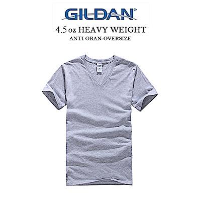 GILDAN 吉爾登美國棉V領亞規素T 英倫紳士 上班族