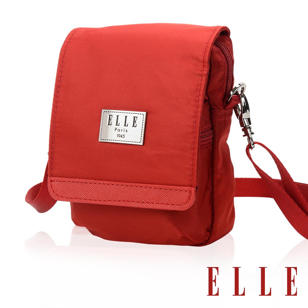 ELLE 經典法國巴黎鐵塔精品收納隨身小包- 艷麗紅 EL83478