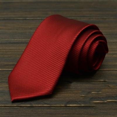 拉福  斜紋領帶8cm寬版領帶手打領帶  紅