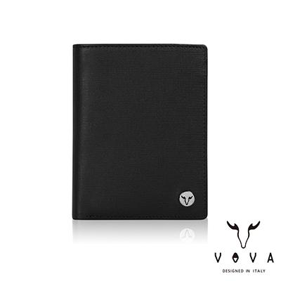 VOVA - 凱旋II系列6卡IV紋名片夾 - 摩登黑