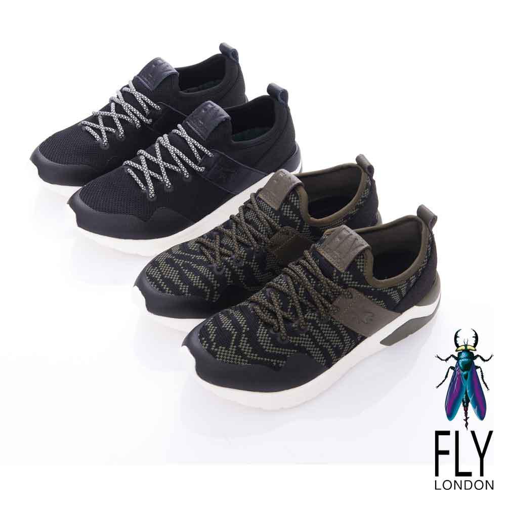 Fly London(男)-SPEED 急速風潮 都會輕量運動鞋-蛇紋咖