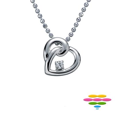 彩糖鑽工坊 愛心鑽石項鍊 永結同心系列