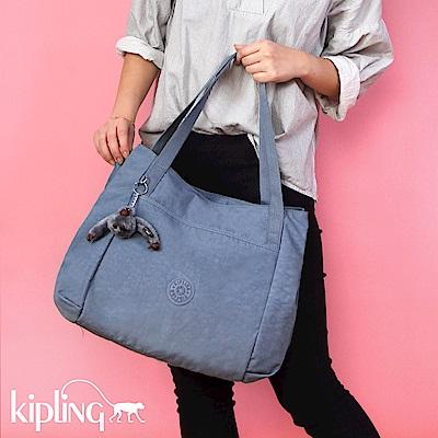 Kipling 手提包 紫羅蘭灰素面-中