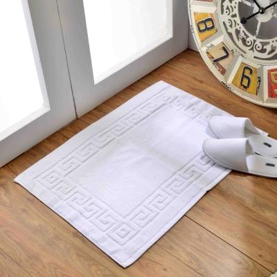五星級飯店專用純棉毛巾料腳踏墊 (2入)