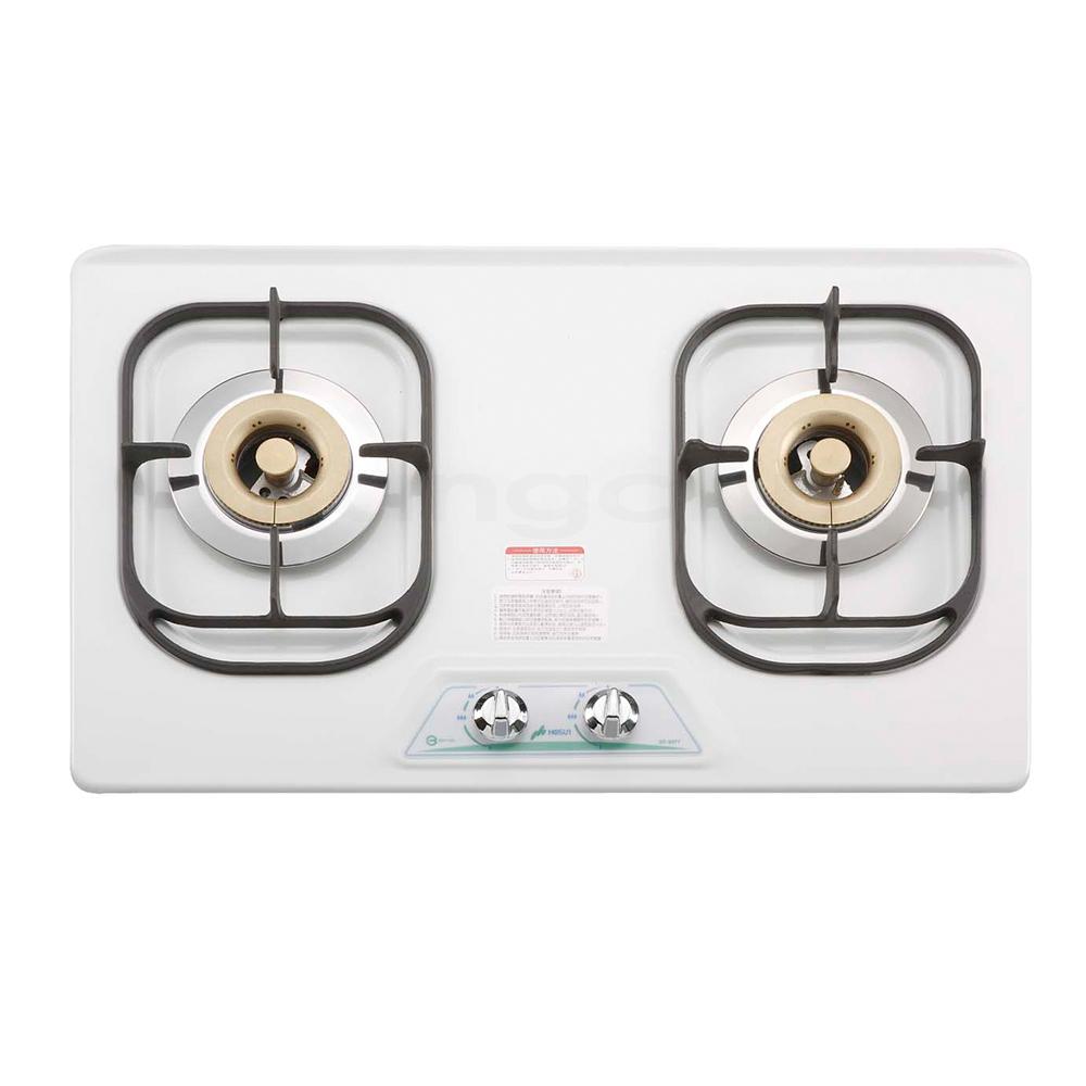 豪山牌 ST-2077 檯面式琺瑯/不鏽鋼二口瓦斯爐