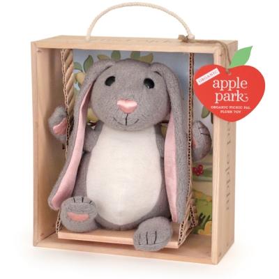 美國 Apple Park 盪鞦韆玩偶彌月禮盒 - 小兔子
