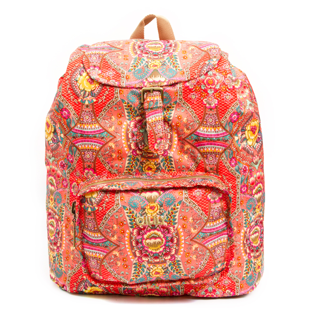 Oilily-FunPaisley-FOLDING BACKPACK(Coral)