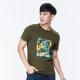 【ATUNAS 歐都納】竹節棉吸濕透氣排汗男款圓領短袖T恤A1-T1706M軍綠 product thumbnail 1