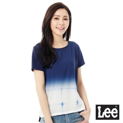 Lee 數位印刷短袖T恤-女-藍