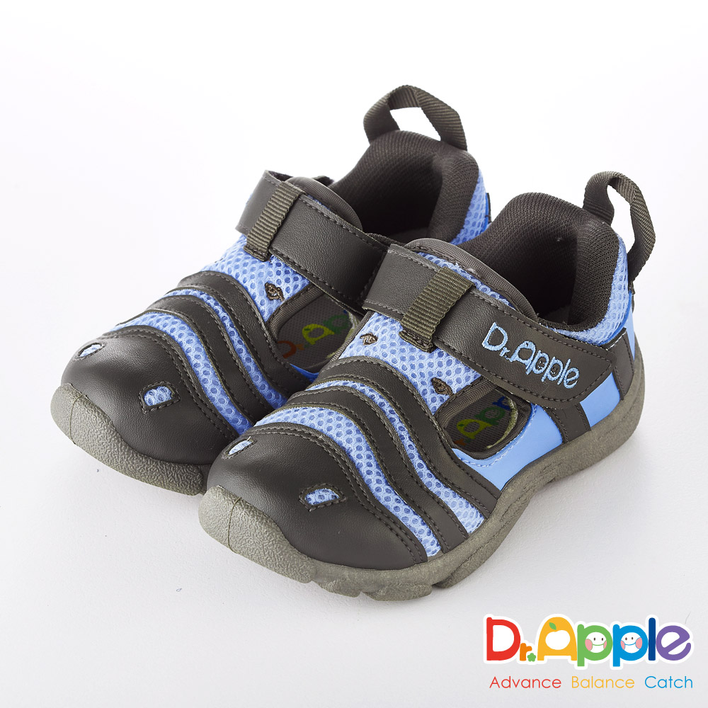 Dr. Apple 機能童鞋 淘氣繽紛斑馬休閒涼鞋款  藍