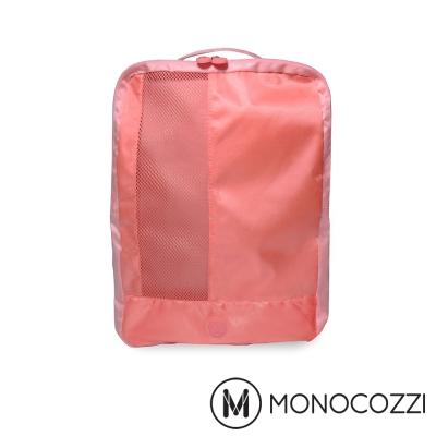 MONOCOZZI Lush 雙層鞋子收納包 Shoes Pack-嫩粉紅