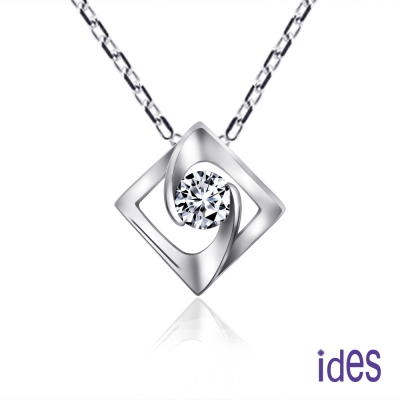 ides愛蒂思 設計款30分E/VS1八心八箭完美3EX車工鑽石項鍊/完整的愛