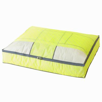 iSFun 居家收納 斜紋防水十字棉被收納袋 黃88x68x16cm
