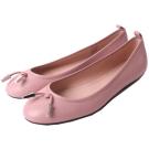 TOD'S 金屬單結飾芭蕾平底鞋(粉紅色)