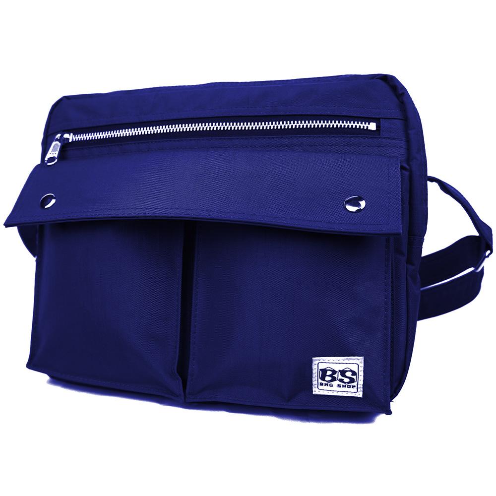 aaronation-BS系列小號翻蓋雙口袋斜背包-六色可選