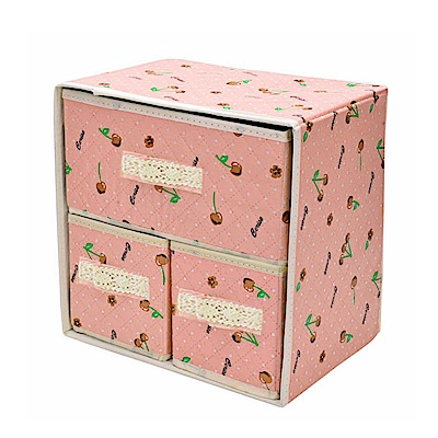 小櫻桃繽紛雙層收納盒(MUS-02)-快