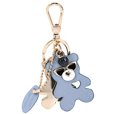 FURLA VENUS 薄霧藍小熊造型鑰匙圈