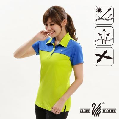 【遊遍天下】女款抗UV吸濕排汗機能POLO衫GS10015果綠