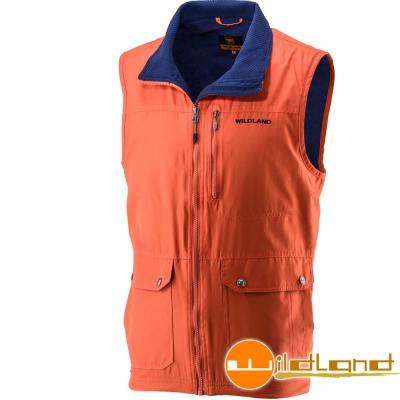 Wildland 荒野 0A22706-84橘色 男 防風時尚保暖背心
