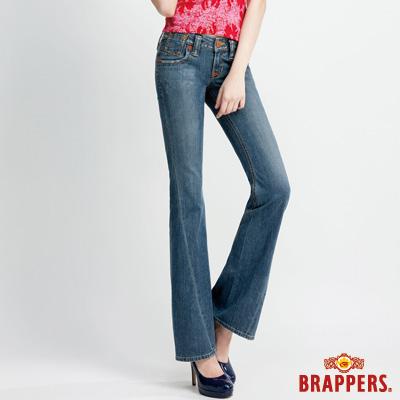 BRAPPERS 女款 女垮褲系列-女用小喇叭褲-淺藍