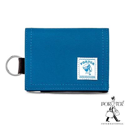 PORTER-輕巧簡約CATCH經典零錢包-希臘藍