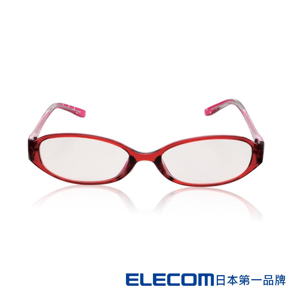 ELECOM 抗藍光眼鏡-透明橢圓