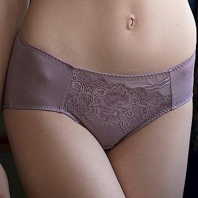 華歌爾 側魔翼提托系列 M-2L 中腰三角褲(迷霧紫)包臀透氣
